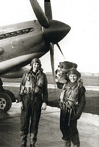 Robert Lavack and female pilot