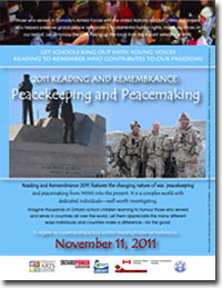 2011 Reading and Remembrance poster