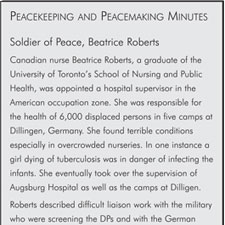 Soldier of Peace, Beatrice Roberts