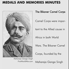 The Bikaner Camel Corps were important to the Allied cause in Africa in both World Wars.